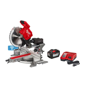 Milwaukee Miter Saw Kit 18-Volt Lithium-Ion Dual Bevel 12.0Ah Battery Charger