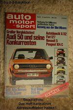AMS Auto Motor Sport 8/75 Audi 50 Volvo 264 GL A 112 Alfa Giulia Super