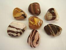 Bag of 8 Pcs of Grade A Zebra Jasper Quartz Natural Tumble Stones