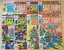 Sgt Fury & His Howling Commandos 142-143, 145-150 (Marvel lot) 146 147 148 149