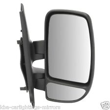 RENAULT MASTER 2003-2010 BLACK MANUAL DOOR WING MIRROR DRIVERS SIDE RIGHT O/S