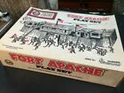 Fort Apache play set, by Marx, No. 4502, plastic fort and figures.