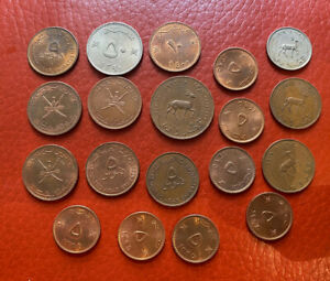 Middle East Lots Of Coins Many UNC