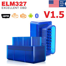 Bluetooth V1.5 ELM327 OBD2 Automotive Car OBD2 Diagnostic Scanner Code Reader US