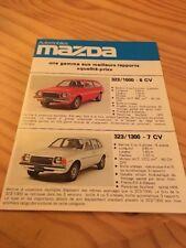 Mazda 323 818 121 RX5 BNA 129 929 616 catálogo folleto prospekt folleto FR