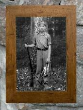 "Fascinating... Boy Hunting Squirrel ... Antique 8"" x12"" Photo Print"