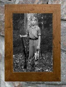 "Fascinating... Boy Hunting Squirrel ... Antique 8"" x12"" Photo Print"