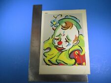 Vintage May Frowning Colorful Clown Art #190 Pressed Image S5318