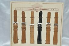 ETMOS  6 x Leder Uhrenarmband z. B. in schwarz, braun 15 mm  - Vintage Top