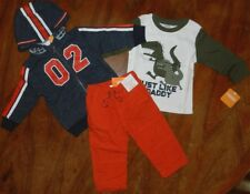 Pant Hoodie 3pc Outfit Gymboree Boy size 12-18 mo Dinosaur New