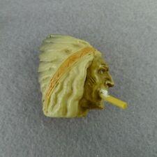 Antique Celluloid Indian Chief With Cigarette Tape Measure Novelty Souvenir
