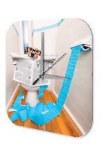 Wall Clock Cartoon Art Fun  Dog toilet Printed Acryl Acrylglass