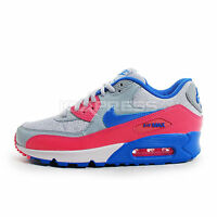 Nike WMNS Air Max 90 [325213-505] NSW Running Magnet Grey/Blue-Pink