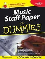 Music Staff Paper For Dummies (Dummies Series)