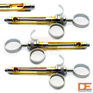 Dental Self Aspirating Syringes With Golden Barrel Anesthesia Oral Surgery Tools