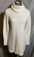 White House Black Market Women's Ivory Tunic Sweater S Small Cashmere Blend
