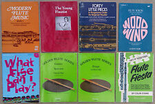 8 BOOKLETS OF MUSIC / FOR THE FLUTE, SOLOS & PIANO ACCOMPANIMENT ETC