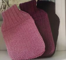 Ch4 - Knitting Pattern For Attractive Hot Water Bottle Cover - Knit ANY colour