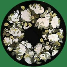 Flower Design with MOP Inlaid Coffee Table Top Marble Bedside Table Size 16 Inch