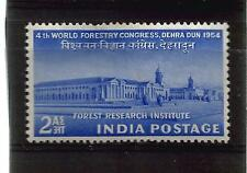 India 1954 4th 2 A CONGRESSO MONDIALE forestyry Verde Turchese ref 1097