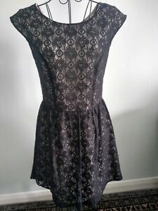 Atmosphere  Skater Dress  Black Lace Nude Lining Size 12