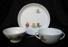 White Pottery Dinnerware for Children & Blue Pottery Dinnerware for Children | eBay