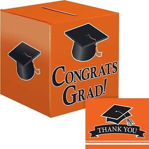 Orange Graduation Card Box and Thank You Card Kit
