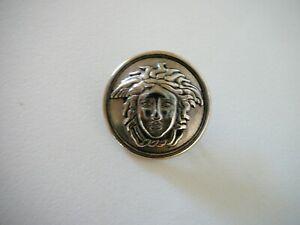 "Ittierre Versace Medusa Head Silver 1"" Metal Shank Button"