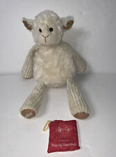 """Scentsy Lenny The Lamb Plush W/ Scent Pak Perfectly Pomegranate FLAW 15"""""""