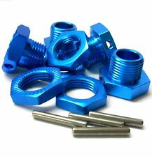 T10065 1/8 RC Buggy M17 17mm Alloy Wheel Hubs Adapter Nut Pin Light Blue x 4