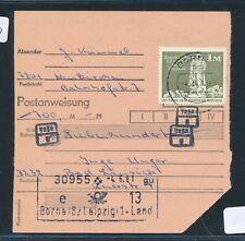 27300) país RDA post espátula-stpl 031 bornas/7201, giro postal 1m 1981