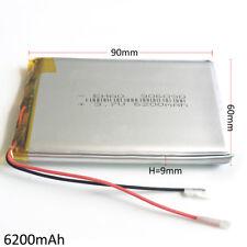 6200mAh 3.7V Lipo Polymer Li Ion Battery 906090 For PAD Power Bank Tablet PC