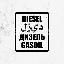 Land Rover Toyota 4x4 Camper Multi Language Fuel Sticker - Black DIESEL