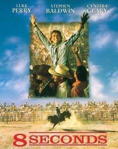 8 Seconds DVD Luke Perry - Bull Riding RODEO Movie 1994 - Stephen Baldwin - RARE