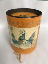Vintage String / Twine / Yarn Holder/ Cylinder shape/Chickens Design
