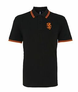 Holland Netherlands 1974 Retro Football Tipped Polo Embroidered Crest S-XXXL