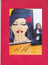 Deborah Azzopardi//Amy Winehouse.Leaflet Singed by Artist.