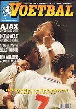 MAGAZINE VOETBAL 1995 nr. 04 - NEDERLAND-IERLAND/VANENBURG/AJAX WERELDBEKER