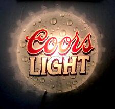 Vintage 1998 Coors Ligh 00004000 t Beer Bottle Cap Lighted Bar Sign man cave