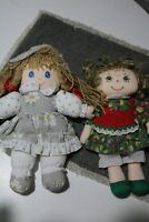 2 Vintage Cloth Dolls - 1 by Commonwealth dated 1991 & One by Chosun Int