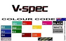 VSPEC DECALS STICKER GRAPHIC SIGNS R32 R33 S13 S14 JDM NISSAN SKYLINE DRIFT