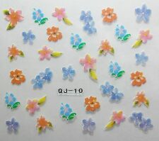 Accessoire ongles :nail art -Stickers autocollants, fleurs des iles multicolores