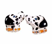 DALMATION CUFFLINKS, STERLING SILVER, ENAMEL by G.DANILOFF & CO.USA