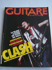 MAGAZINE GUITARE N° 33 , CLASH , SUPERTRAMP ETC . BON ETAT .