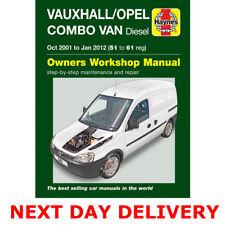 Haynes Manual Vauxhall Combo Oct 2001-Jan 12 1.3 1.7 Turbo Diesel Workshop
