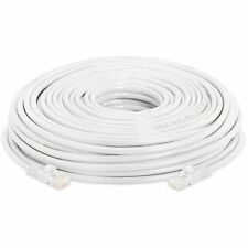 200' FT 200feet CAT6 23 AWG RJ45 Ethernet Network LAN Patch Cable Cord White UTP