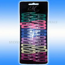 GIRLS Hair Slide Clips kids Accessories Grips Sleeper Snap SLEEPIES Glitter clip