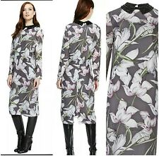 BNWT M&S Autograph Lilly Print Shirt Dress + Detachable Collar Size 14UK RRP £89