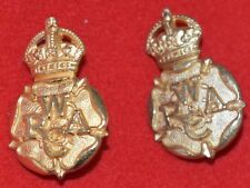 British Army. Women's Royal Army Corps Genuine Officer's Collar Badges