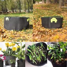 5Pcs 600 Gallon Fabric Grow Bags Black Planter Smart Plant Root Pots Container